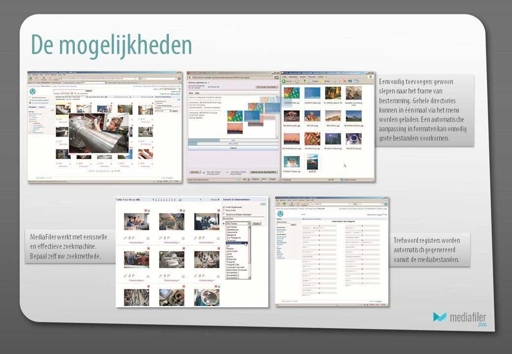 mediabank voor marketing en communicatie-mogelijkheden