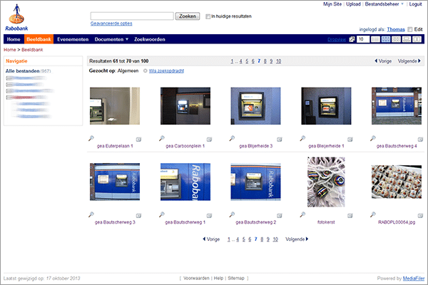 Digital Asset Management software Rabobank MediaFiler