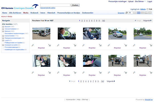 Media bank Public Transport Agency Groningen Drenthe MediaFiler Digital Asset Management software