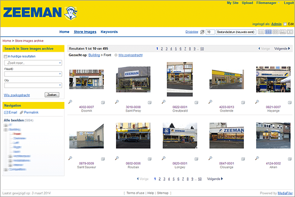 Media bank Zeeman MediaFiler Digital Asset Management software