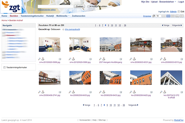 Digital Asset Management software for Hospital Group Twente MediaFiler