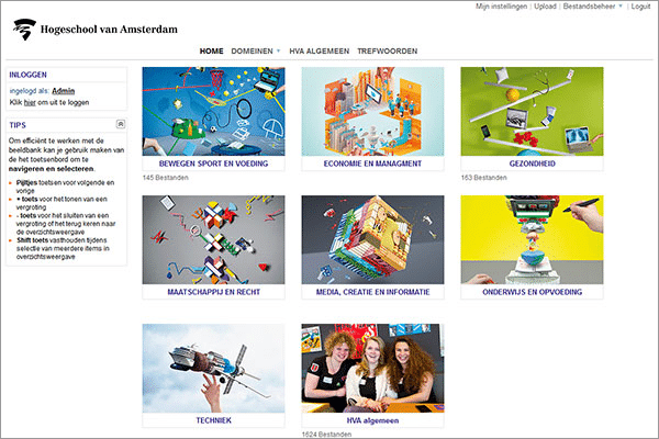 Media bank Amsterdam University of Applied Sciences MediaFiler Digital Asset Management software